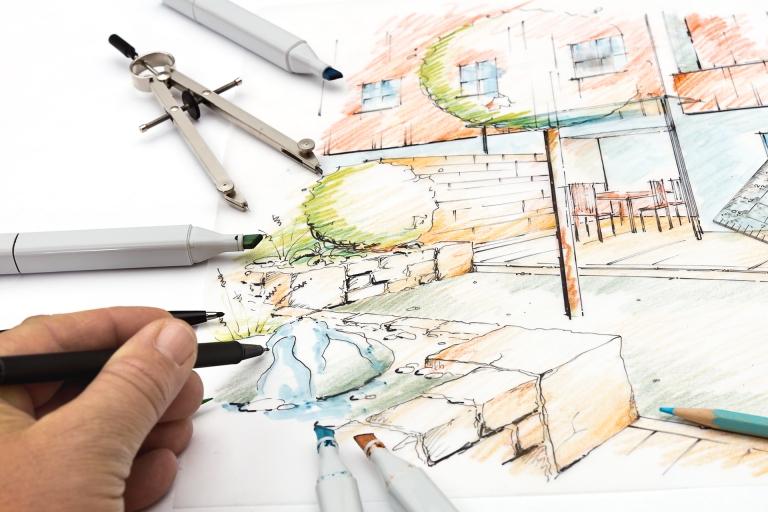 Garden Sketch Design